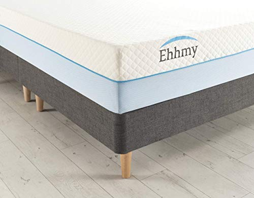 Ehhmy Hybrid Coolblue Mattress With Extraordinary 1000 Independent Less Friction Pocket Coil Technology And Special Tailor Made Zip Cover (Single (90cm X 190cm))