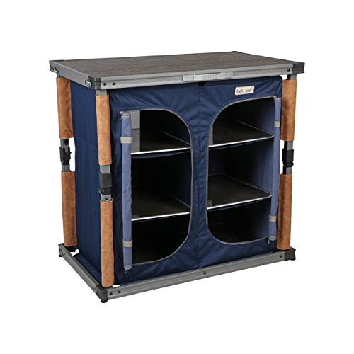 Bel-Sol Unisex's Jutta Eco-Friendly Sustainable Portable Cabinet Kitchen Storage for Camping or Festivals Max Load Capacity 30kg Unit, Navy Blue, One Size