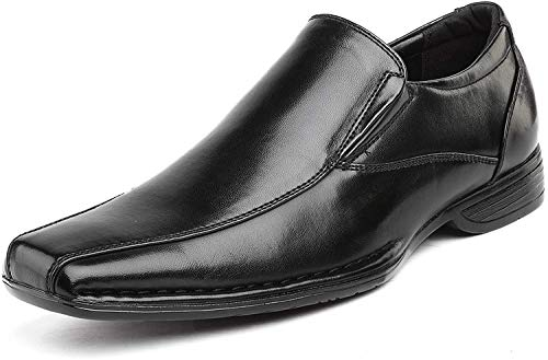 Bruno Marc Men's Giorgio-1 Black Leather Lined Dress Loafers Shoes - 12 M US