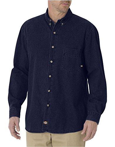 Dickies WL300RNB Camisa de Trabajo para Hombre, color Rinsed Indigo Blue, MRG