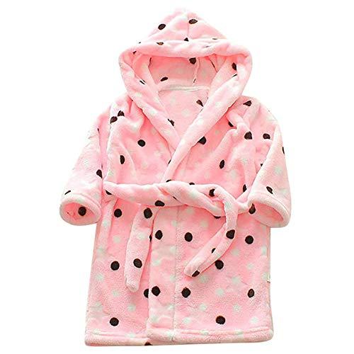 YPDM nachthemd unisex kinderprint flanel badjas hoodie handdoek pyjama nachthemd kinderen badjas kinderen jongens meisjes badjas, 2T