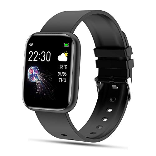 FENHOO Smartwatch Orologio Fitness Uomo Donna Bambini, Impermeabile IP67 Fitness Tracker con Cardiofrequenzimetro da Polso, Contapassi, Cronometro Sportivo Activity Tracker per Android iOS