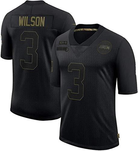 Equipos Populares Hombres Sêahawkš Wilšon 3# Camiseta de Rugby Fans Camiseta de fútbol Americano Bordada Camiseta Deportiva-Segundo_2XL (191~195 cm)