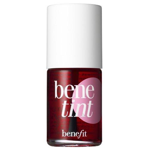 Benefit benetint rose-tinted lip & cheek stain Inhalt: 12,5ml Flüssig Rouge oder Lippenfarbe. Damit kann man geziehlt neue akzente Setzen oder rosige Wangen.
