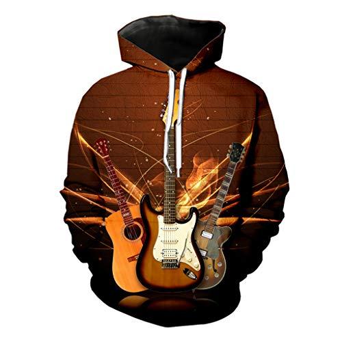 Bajo Guitarra Hombres Sudadera con Estampado 3D Tendencia...