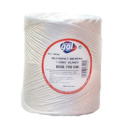 WURKO 148750-Corda rafia 1cabo n4-b 700gr bobina/Bianco