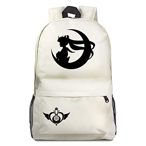 Mochila de Anime Sailor Moon Cosplay Anime Mochila Escolar Estudiantes Mochila para Portátil Backpack Bolsa Casual Bandolera