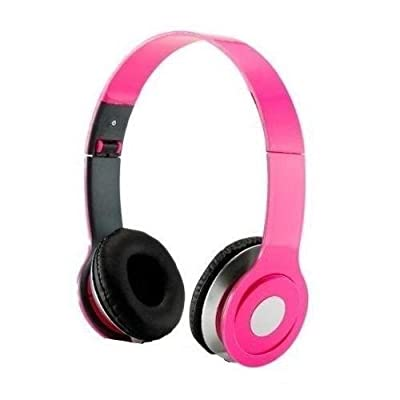 HeadGear 3.5mm Foldable Headphone Headset for Dj Headphone Mp3 M Pc Tablet Music Video and All Other Music Players (Pink)