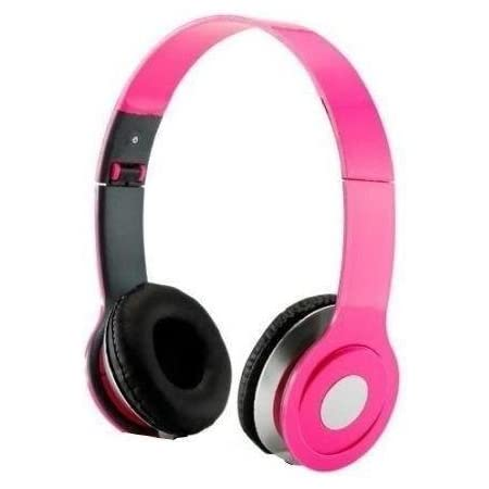 HeadGear 3.5mm Foldable Headphone Headset for Dj Headphone Mp3 M Pc Tablet Music Video and All Other Music Playersp (Pink)