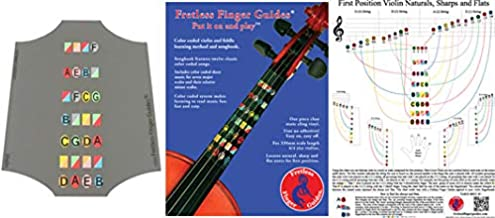 Fretless Finger Guide Bonus Bundle. Get a free 3/4 violin finger guide when you buy a Learning Manual and Note Finder Poster. Save $9.45.