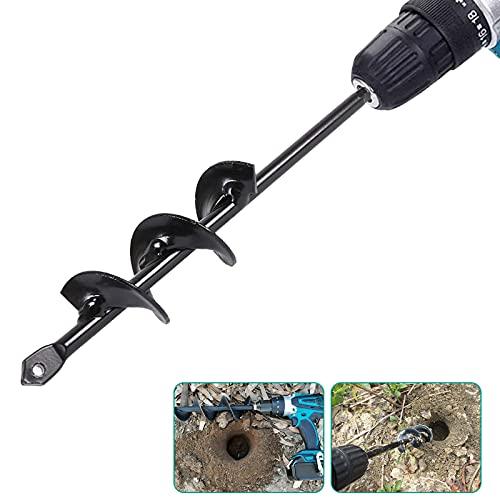 """VIPMOON Garden Bulb Auger Drill Bit - 1.6""""x9"""" Earth Soil Auger, Hex..."""