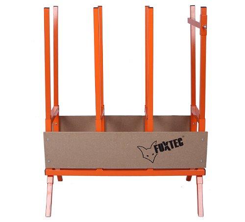 FUXTEC Sägebock FX-SH2.0 aus Metall für Kettensägen für Brennholz - Kaminholz, mit verstellbaren Füßen, äußerst stabile Konstruktion aus Stahl mit breitem Auflageboden