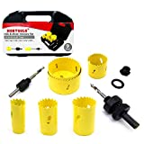 Get 16% discount by applying coupon for NORTOOLS 9pcs HSS Bi-Metal Hole Saw Kit for Soft Metal, Wood. PVC Board and Plastic, Cutting Depth 38mm. Save $4.00.