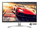 LG 27UL500 Monitor 27' 4K UltraHD LED IPS HDR 10, 3840 x 2160, 1 Miliardo di Colori, Radeon FreeSync 60 Hz, 2x HDMI, 1x Display Port 1.4, Uscita Audio, Flicker Safe, Bianco