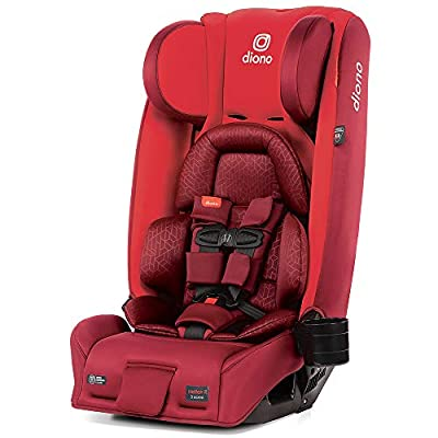 Diono Radian 3RXT, 4-in-1 Convertible Extended Rear and Forward Facing Convertible Car Seat, Steel Core, 10 Years 1 Car Seat, Ultimate Safety and Protection, Slim Design - Fits 3 Across, Red Cherry