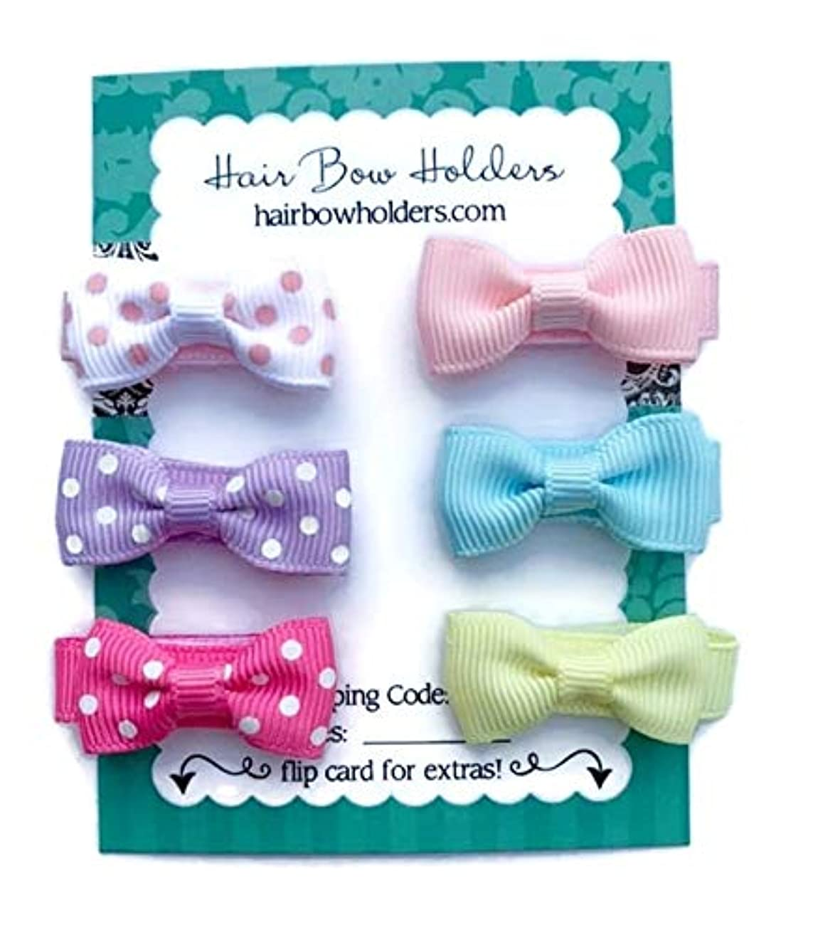Small Mini Hair Bows for Baby Girls, Made with VELCRO? brand fasteners Hair bows, cute mini hairbows, Tiny small baby hair bows