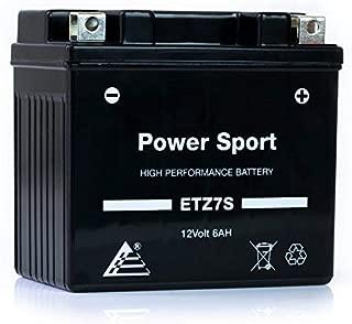 ExpertPower ETZ7S YTZ7S 12V6AH Replacement Sealed Maintenance Free Powersport Battery for Honda 50 CHF50 Metropolitan, II
