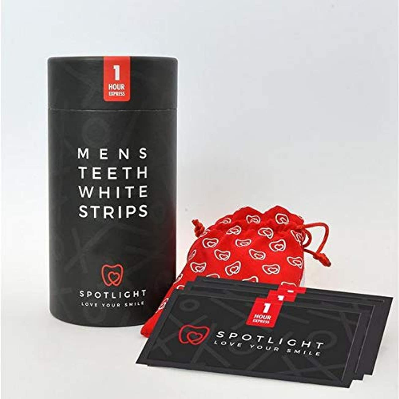 ダイヤル独立してスクリュー[Spotlight Teeth Whitening ] スポットライトホワイトニングメンズ歯白色ストリップ - SPOTLIGHT WHITENING MENS TEETH WHITE STRIPS [並行輸入品]