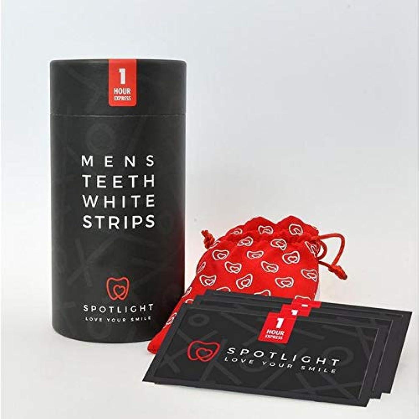 提供する描くヒョウ[Spotlight Teeth Whitening ] スポットライトホワイトニングメンズ歯白色ストリップ - SPOTLIGHT WHITENING MENS TEETH WHITE STRIPS [並行輸入品]
