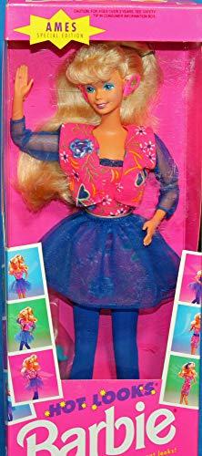 Ames 1992 Hot Looks Blonde Barbie Doll