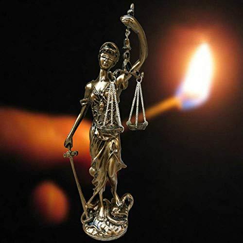 AMITD beeld sculptuur antieke Griekse godin van rechtvaardigheid sculptuur Europese retro hars ornamenten beeldje handwerk thuis kantoor desktop decoratie figuur, 40 cm hoog