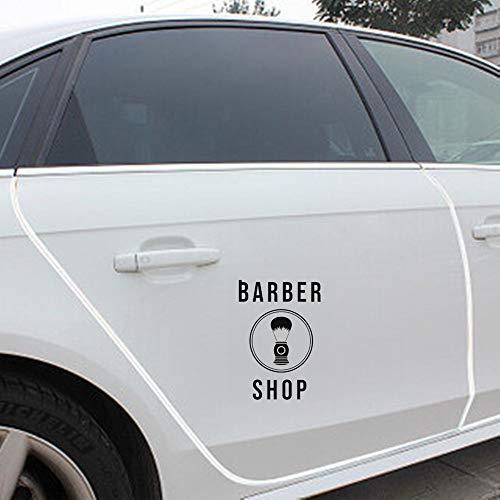 9,9 cm * 14,1 cm parrucchiere negozio taglio di capelli parrucchiere adesivo per auto per autoadesivo della finestra del computer portatile