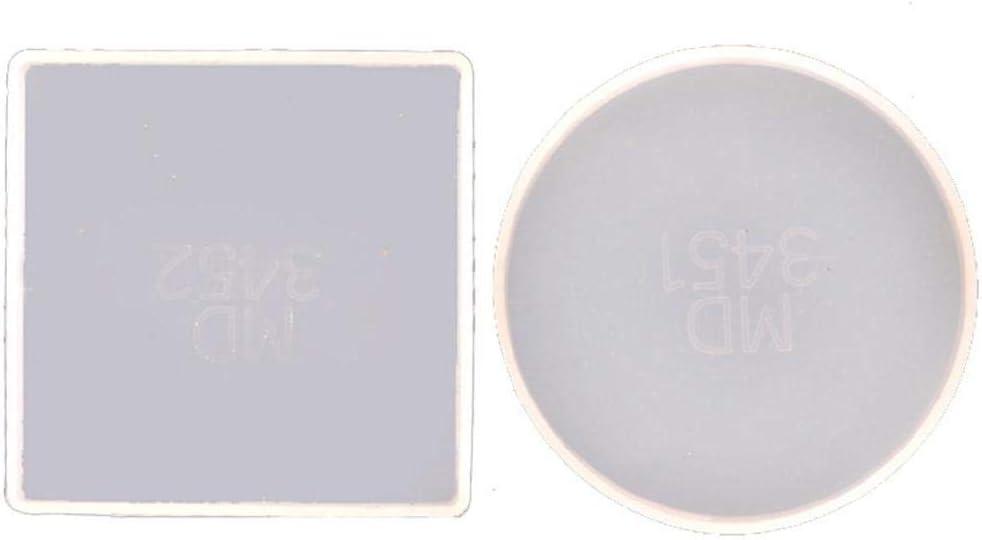 Super sale period limited 2Pcs Round Square Sale SALE% OFF Coaster Resin Coast Mold Agate Kit Geode