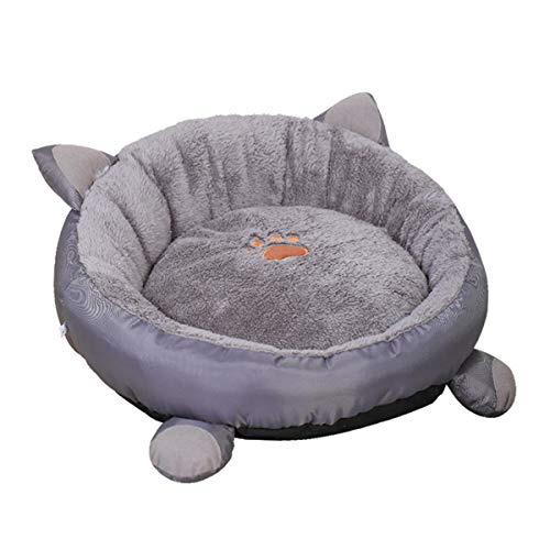 DaMohony Katzenbett Runde Waschbare Haustierbettmatratze Gemütlich mit Rutschfestem Wasserdichtem Boden für Katzenhund Kleines Haustier Schlafbettmatte