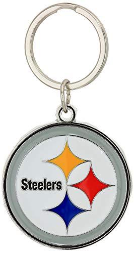 NFL Siskiyou Sports Fan Shop Pittsburgh Steelers Chrome & Enameled Key Chain One Size Team Colors