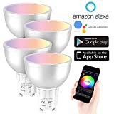 WANGLAI Ampoule Intelligente, 5W Ampoule Connectée WiFi Couleurs RGB Compatible avec Amazon Alexa/Google Home, Ampoule...