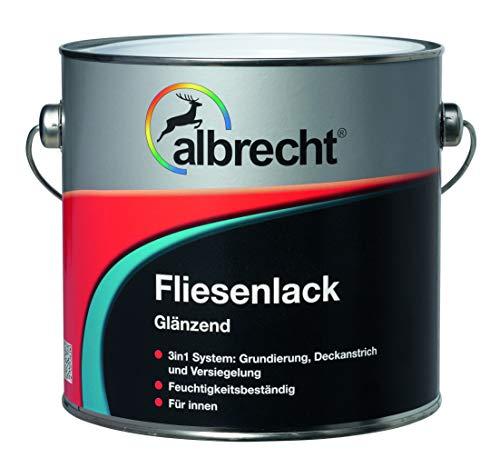 Albrecht 3400605770901002500 Fliesenlack glänzend weiß 2,5l