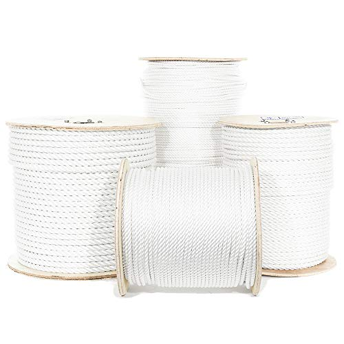 Discover Bargain GOLBERG G Twisted Polyester Rope (1/2 Inch, 600 Feet) - White Low Stretch