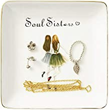 Ring Trinket Dish, Sister Gifts Friendship Gifts for Women - Soul Sisters Ring Dish, Birthday Gifts for Sisters