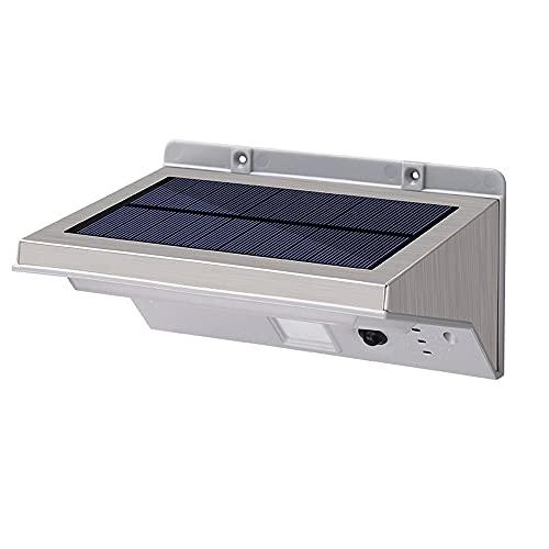La luz de la pared de la inducción del cuerpo humano solar, la función del sensor de movimiento de 3 modelos, el cuerpo de la lámpara de acero inoxidable + la lámpara de la PC SHADE SHADE SCONE, 21 LE