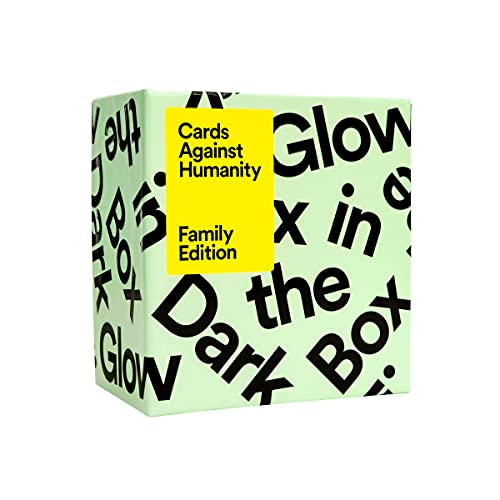 Cards Against Humanity Family Edition: Glow in The Dark Box •...