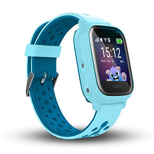 Calmean NEMO 2 - Resistente al agua IP67, reloj inteligente digital para niños con triple seguimiento (GPS+LBS+WiFi) con aplicación para iOS y Android Reloj impermeable (azul)