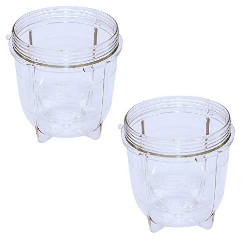 Anbige Replacement Parts Cups,Compatible with original Magic Bullet Blender Juicer 250W MB1001 (2 short cups)