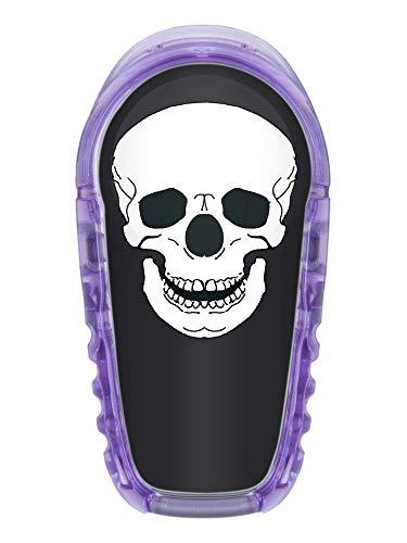 2x Totenkopf - Sticker Aufkleber für Dexcom G6 Transmitter Farbe schwarz