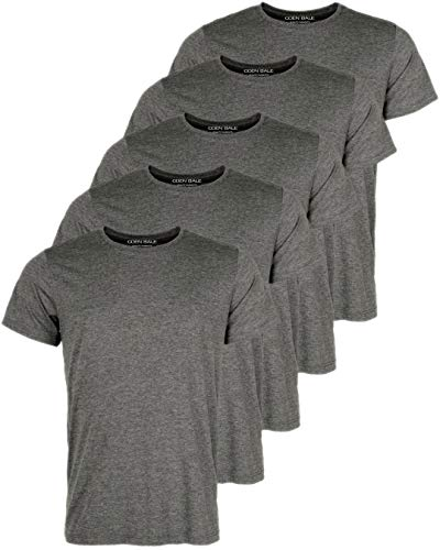 Coen Bale męski T-shirt basic z krótkim rękawem, okrągły dekolt, w opakowaniu 5 sztuk