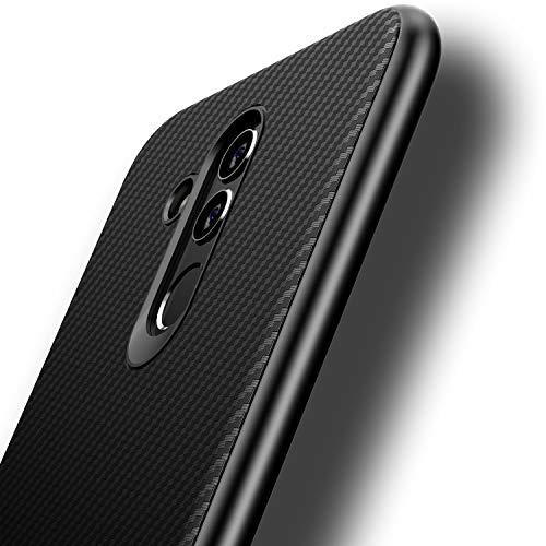 Losvick Cover per Huawei Mate 20 Lite, Ultra-Sottile TPU Silicone Morbida Custodia Fibra di Carbonio Anti-graffio Anti-Scivolo Antiurto Protettiva Bumper Case per Huawei Mate 20 Lite - Nero