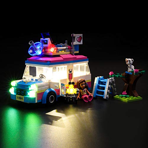Kit De Iluminación Led para Lego Friends Vehículo De Operaciones De Olivia, Compatible con Ladrillos De Construcción Lego Modelo 41333 (Juego De Legos No Incluido)