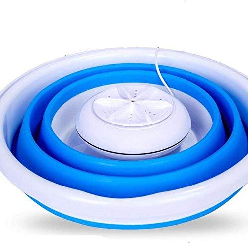 APAN Mini lavadoras,Lavadora portátil con Secadora,Equipo de Limpieza,Frutas Vegetales,Dormitorio,Camping, Viajar,Azul-UE