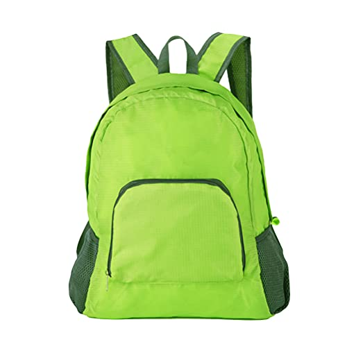 ABOOFAN Mochila plegable ligera e impermeable para viajes al aire libre, mochila portátil para camping, senderismo, viajes (verde claro)