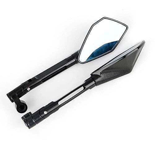 WYJW Espejo retrovisor para Motocicleta, Accesorios para Espejo retrovisor, Espejos retrovisores para Suzuki GSX S750 S1000 SV650
