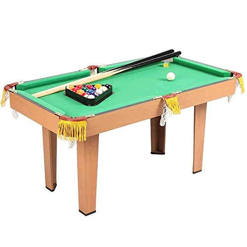 AJH Mini Tischplatte Fußball Billardtisch für Kinder und Erwachsene Billard Platz sparen Kleine tragbare Tischspielzeugspiele Family Interactive Games (Farbe: Grün, Größe