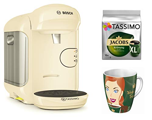 Tassimo Vivy 2 + Ritzenhoff verzamelbeker 15. Edition + TDisc Jacobs kroon XL 29,8 x 16,9 x 24,9 cm crème
