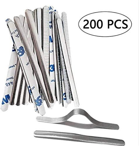 200 stks Aluminium Strips Band Draad Verstelbare Neus Brug Clip Beugel Lijm Metaal Flat DIY Maken Accessoires voor Masker Naaien Ambachten