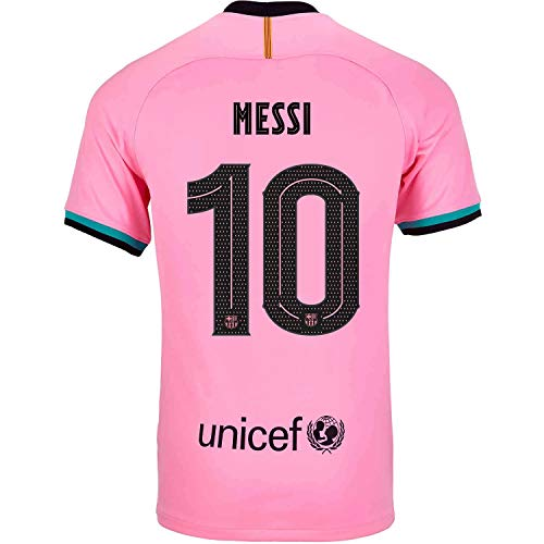 Soccer Kingdom Unlimited Messi #10 Barcelona Third Men's Jersey 20-21 (M) Pink
