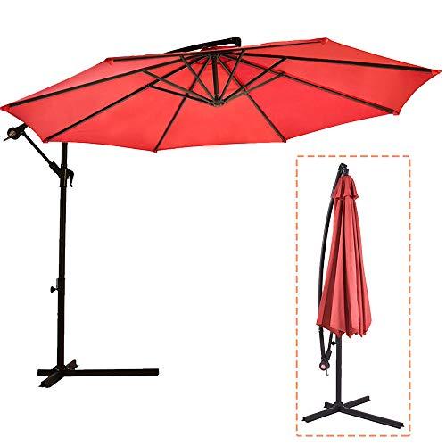 Sombrilla Parasol de para Terraza Jardín Patio Ajustable Protección Solar UV