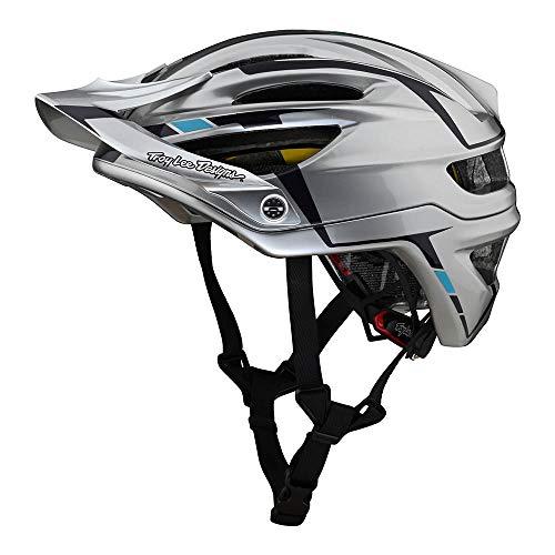 Troy Lee Designs Adult | All Mountain | Mountain Bike Half Shell A2 Helmet Sliver W/MIPS (Silver/Burgundy, XL/XXL)